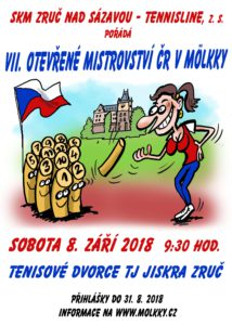 plakát MČR molkky 2018